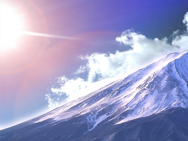 お正月の富士山